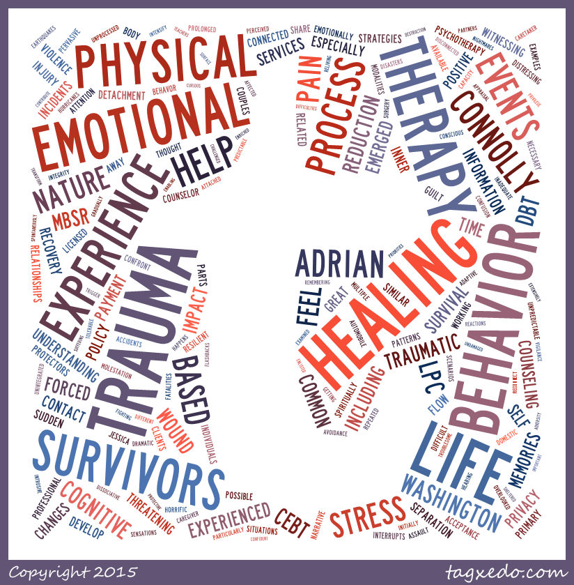 """words relating to """"trauma,"""" its meaning, sources, and impact"""